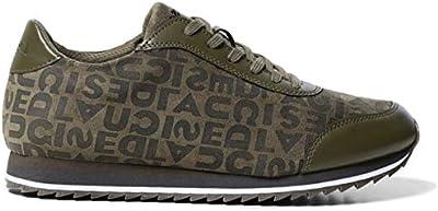 Desigual 19WSKP094085 Logomania-Sneakers Pegaso SKU - Zapatillas de Skate, Color Verde, Talla