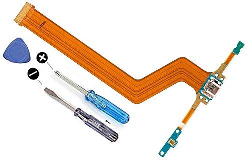 Dock Connector Ladebuchse Lade Port Mikro USB für Samsung Galaxy Tab10.1Pro SM-T520 SM-P600 601 605 inkl Flexkabel Mikrofon Home Button Anschluss vorinstalliert inkl 2 x Schraubenzieher und Plectrum für einfachen Einbau MMOBIEL