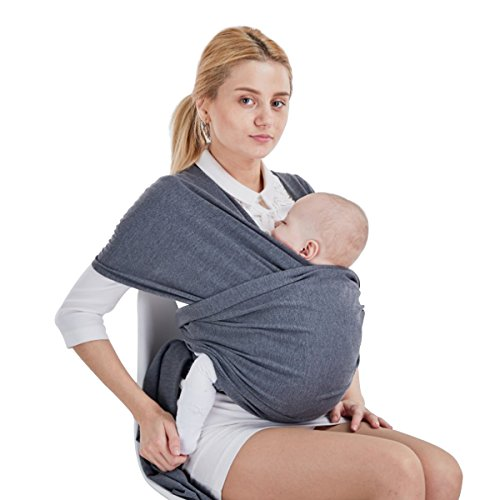 SONARIN Premium Babytragetuch Baby Sling Wrap Babytrage,Babytragetücher,Geeignet für Neugeborene,Säuglinge & Kleinkinder, Einheitsgröße,100{68cb9b43ba7195d279992b5aaf42e7fefc6ca6ddf15e62639b36f7b458aa91dd} KOSTENLOSE LIEFERUNG,Ideal Geschenk(Dunkelgrau)