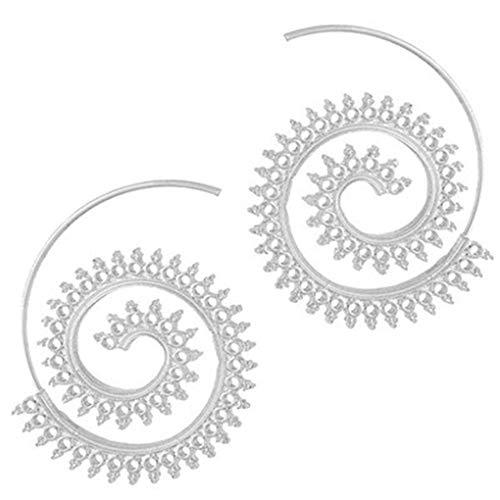 Provide The Best S Frauen-Mädchen-Spiral-Form-Ohrringe Legierung Ohrclip Pin-Bolzen-Jacke Spike Schmuck Souvenirs (Für Frauen Spike-bolzen-ohrringe)