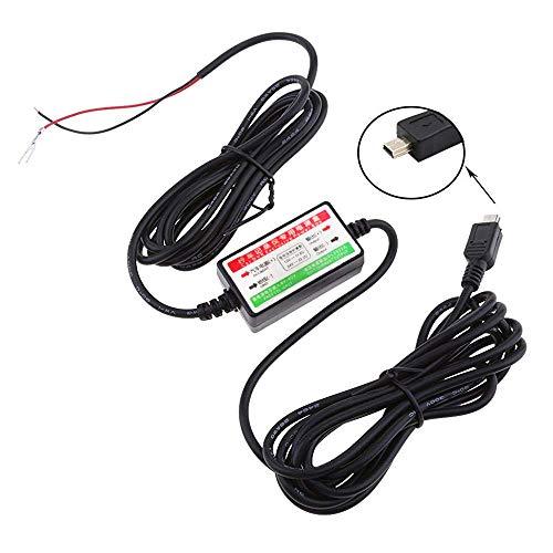 Dash Cam Hardwire Kit 3,5 m Länge 8 V ~ 40 V zu 5 V Weitspannungseingang Mini USB Auto Hardwire Kit Fahrzeug Power Adapter für Dashcam 8 Dash Kit