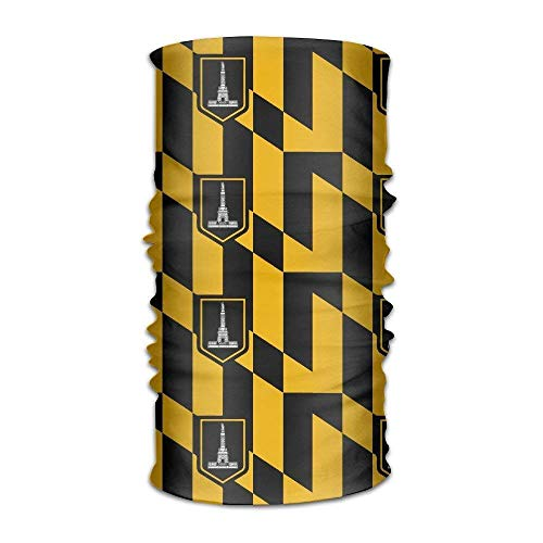 ish Baltimore Maryland USA Flag Quick Dry Microfiber Headwear Outdoor Magic Bandana As Neck Gaiter Head Wrap Headband Scarf Face Mask Ultra Soft Elastic One Size ()