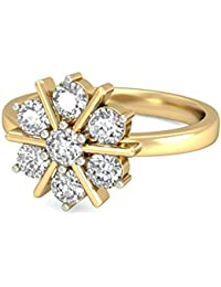 PC Jeweller The Hyria 18KT Yellow Gold & Diamond Rings