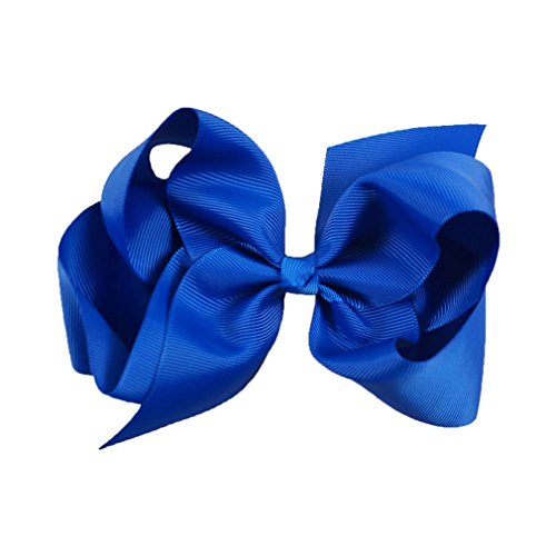 6 Zoll große Grosgrain Ribbon Solid Hair Bögen mit Clips Mädchen Kinder Haarspangen Headwear Boutique Haarschmuck 25 -
