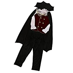 Segolike Scary Halloween Party Kids Boy Cloak Top Pant Vampire Devil Role Play Cosplay Fancy Dress - multi, XL
