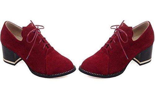 scarpe a punta punta donna pizzo del tribunale di massima con alti diamanti tacco scarpe da passeggio wine red