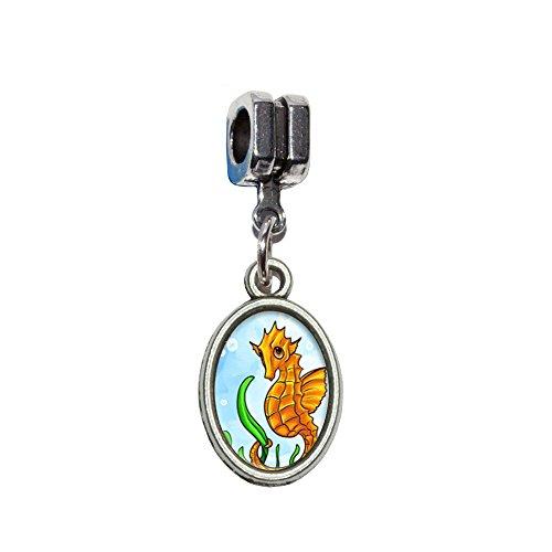 Seepferdchen sea horse gelb–Ocean Water Niedlich Italienisches europäischen Euro-Stil Armband Charm Bead–für Pandora, Biagi, Troll,, Chamilla,, andere