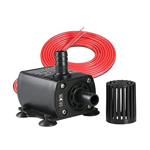 KEIBODETRD Tauchwasserpumpe 280L / H DC 12V Tauchen Mini Wasserpumpe für Teich Aquarium Brunnen Elektrische Pumpe (Mini-wasser-leitung)