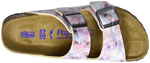 Papillio Damen Arizona Birko-Flor Softfootbed Pantoletten Mehrfarbig (Pixel Rose Soft)
