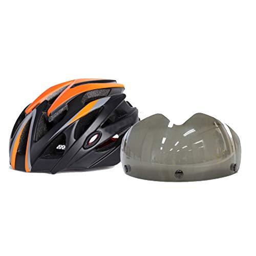 Fahrradhelm mit Abnehmbarer magnetischer Schutzbrille, Visier, CE-Zertifiziert Leichtgewichtiger Fahrradhelm mit 2 CE-zertifizierten Gläsern-1-L