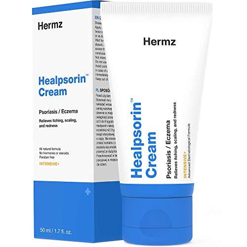 Healpsorin Crema Per Psoriasi (50 ml) - Trattamento Cosmetico Naturale Per Mani, Viso E Gomiti - Crema Idratante - Pelle Secca, Pruriginosa E Spaccata - Efficace Su Eczema, Rosacea, Dermatite