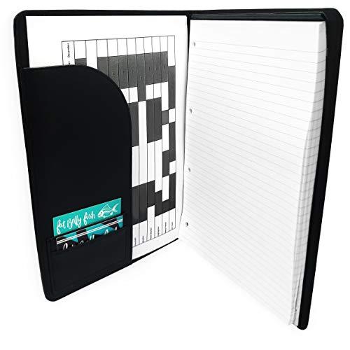 Collins Corporativos Ejecutivo Conferencia Portafolio Carpeta con Soporte para Bolígrafo - Piel Sintética Negra + A4 Recarga Pad