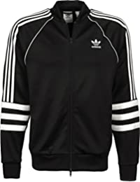 Adidas AUTH TT - Chaqueta, Hombre, Negro(Negro/Blanco)