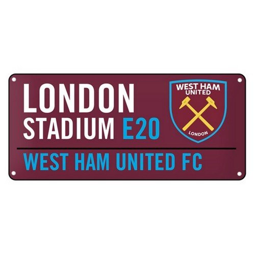 West Ham United Football Club London Stadium Street Wall Sign Official Gift Fan