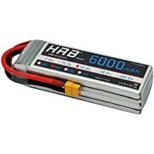 HRB 6000mAh 14.8V 50C 4S Lipo batería Pack for Modelismo Rc Car Heli Plane Boat Truck FPV Auto helicóptero avión Toys (Enchufe XT60)