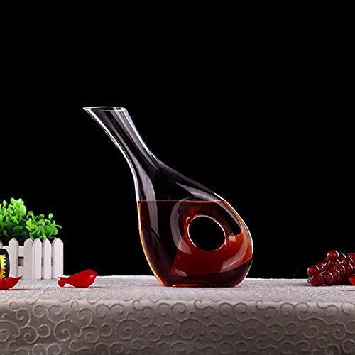 NEWNINE Weinkaraffe, Weinkaraffe, Weinspender, 100% mundgeblasenes bleifreies Kristallglas (Dutzend Champagner-gläser)