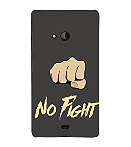 Fiobs Designer Back Case Cover for Microsoft Lumia 540 Dual SIM (No Fight Peace Noble Punch Cool Fist Thumb Calm )