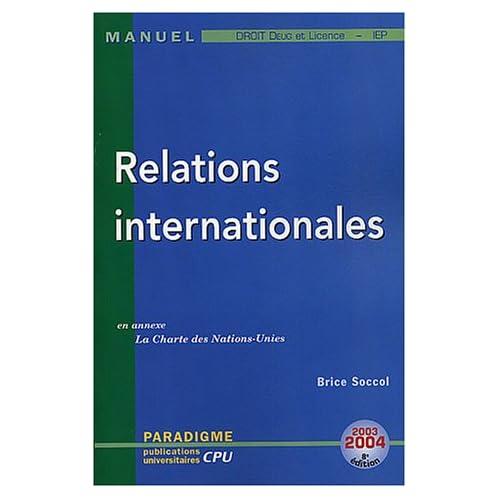 Relations internationales : DEUG Licence Droit
