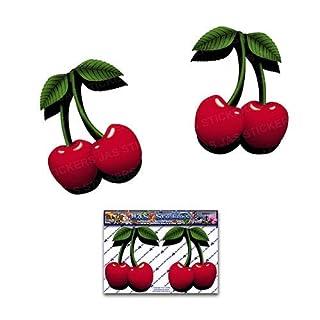 2 x Aufkleber mit roten Kirschen für Wohnwagen - ST00050_SML - JAS Stickers