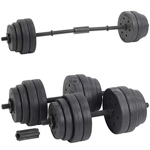 Generic - Juego de Mancuernas para Levantamiento de Pesas (30 kg, 30 kg), Color Negro