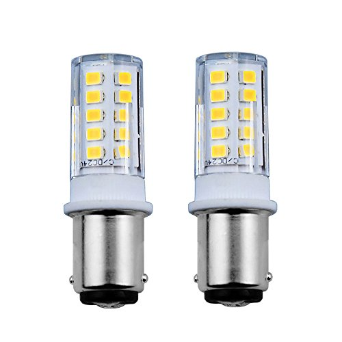Bonlux 3.5W BA15D Lampe Beleuchtung AC/DC 12-24V 360° Abstrahlwinkel Doppelpunkte Bajonett-Sockel Leuchtmittel Kühlweiß 6000K 25W Glühbirne Equivalent Nicht Dimmbar (2-Stück) (Bajonett-sockel)