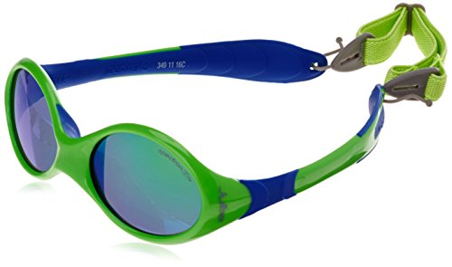 JULBO LOOPING III SUNGLASSES (SPECTRON 4 GREEN FLASH LENS GREEN/BLUE FRAME)
