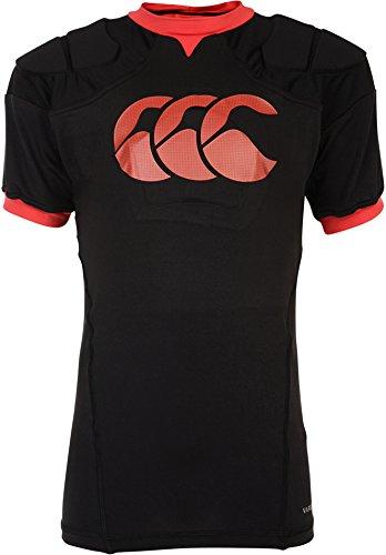 Canterbury Kinder Vapodri Raze Rugby Schutzweste Shirt Schwarz SB