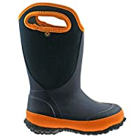 BOGS Boys Slushie Solid Navy Orange Insulated Warm Wellies Boot 78584 492-UK 5 (EU 39)