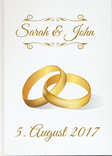 Livingstyle & Wanddesign Personalisiertes Gästebuch für Ihre Hochzeit Hochzeitsbuch individuell mit eigenen Namen Fotoalbum Mr Mrs Wedding (Motiv 51, 48 Seiten/ 24 Blatt)