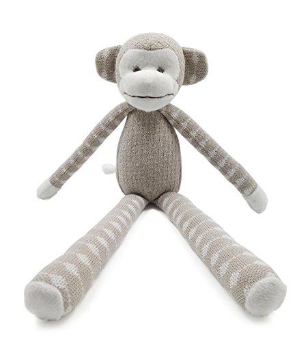ter Spielzeug | sehr weiches Lange Beine Affe Plüschtier für Baby / Säugling / Kleinkind | Bio-Baumwolle stricken (Einfache Thanksgiving-handwerk Für Kleinkinder)