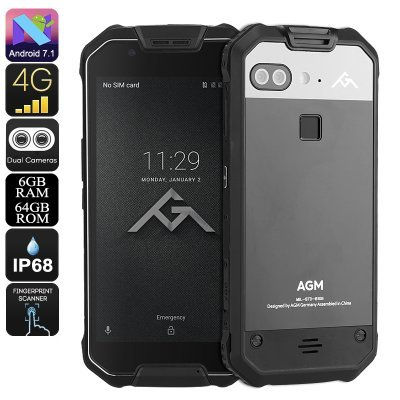 AGM X2 SE Rugged Phone Android 7.1 Octa Core CPU 6GB RAM IP68 1080p Display 4G