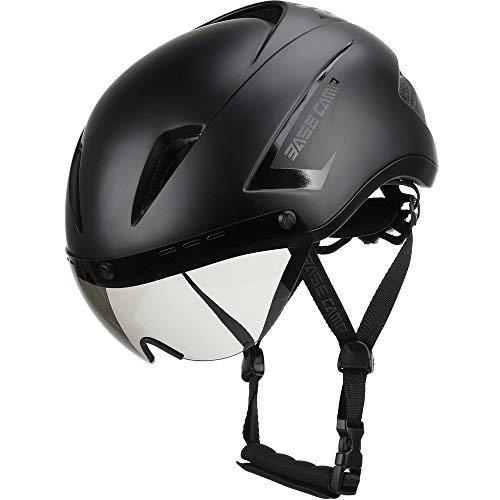 Base Camp Fahrradhelm mit abnehmbarem Visier Rennradhelm Sporthelm, Damen/Herren, Helm für Skates/Fahrrad (Air Schwarz)