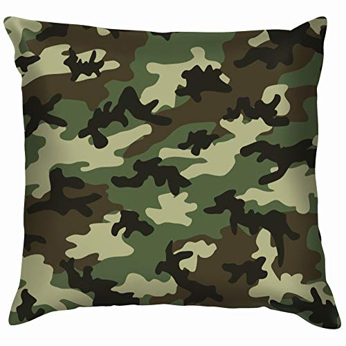 Military Camouflage Four Colors Beauty Fashion Funny Square Throw Pillow Cases Cushion Cover for Bedroom Living Room Decorative 18X18 Inch Deluxe Military Jacket