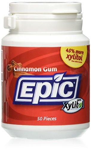 Epic Dental Xylitol Gum, Cinnamon - 50