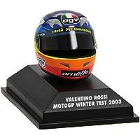 Casco AGV Valentino Rossi 2003 Winter Test MotoGP 1:8 Replica