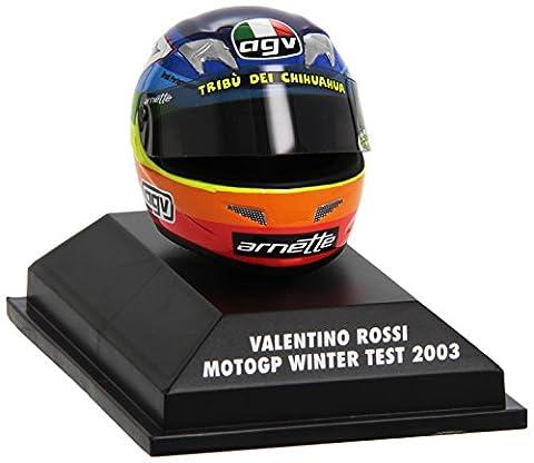 Minichamps - 397030099 - Véhicule Miniature - AGV Casque Moto GP Winter Test 2003 - V Rossi - Echelle 1:8