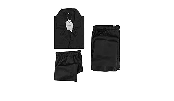 5a47a883fe LILYSILK Men s 3Pcs 100% Silk Pyjamas Set Short Sleeve Long and Short 3pcs 22  Momme Pure Silk  Amazon.co.uk  Clothing