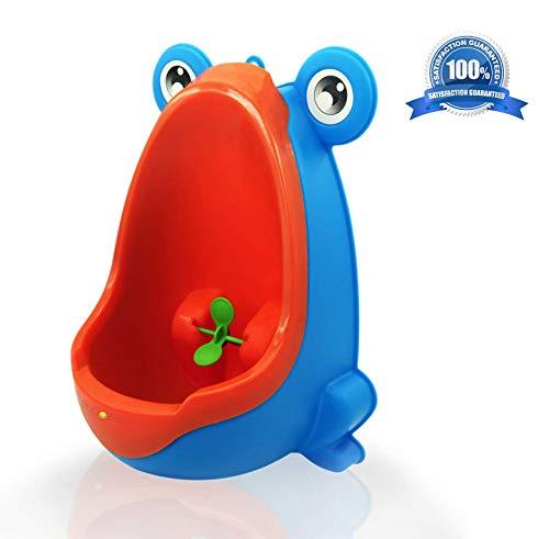 Orinatoio a forma di rana per bambini, per imparare a usare il vasino, per bambini, con bersaglio