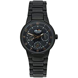 Elesse Unisex Quartz Watch Analogue Display and Stainless Steel Strap 639278BKW