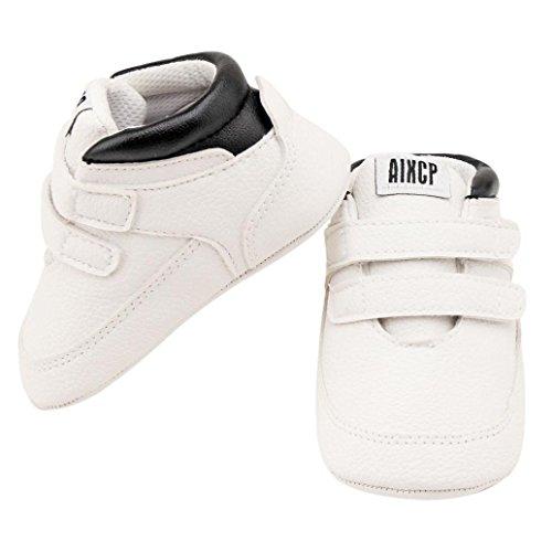Mädchen Jungen Baby weicher Sohle Leder Schuhe mingfa Winter Warm für Neugeborene Infant Crib Shoes Kleinkinder Stiefel 0–18Monate Age:6~12 Month weiß