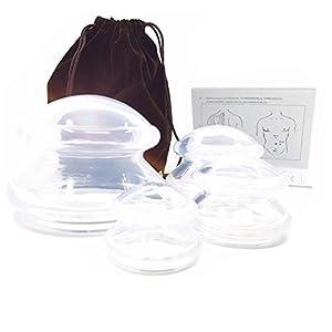 Schröpf-Cups BPA-frei Silikon SchröpfenSET/Cupping Set – Schröpfkopf (4er Set) Massage Schröpfset Schröpfen Faszienmassage Vakuum Massage Akupunktur