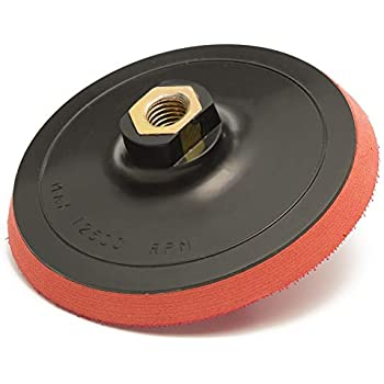 Hook and Loop Backing Pad M14 x 2 thread 100mm 4 Semi Rigid Sander Pad
