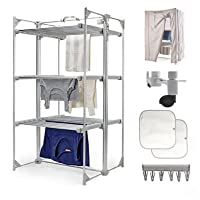 Dry:Soon Deluxe 3-Tier Heated Airer & Accessories Pack (Under 6p / Hour!)