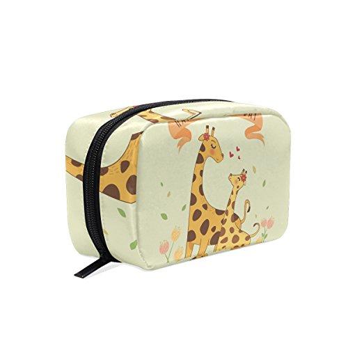 Happy mother' s day giraffe cosmetico portatile della borsa per le donne multifunzione per il trucco, forma quadrata per le ragazze di