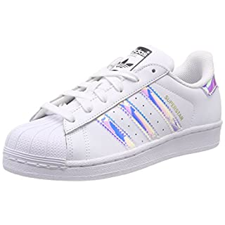 adidas Unisex-Kinder Superstar J Gymnastikschuhe, Weiß FTWR White/Metallic Silver-SLD, 35.5 EU