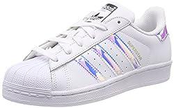 adidas Unisex-Kinder Superstar J Gymnastikschuhe, Weiß (FTWR White/FTWR White/Metallic Silver-SLD), 35.5 EU
