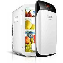 Shopping- 15 litros de mini coche de refrigerador del refrigerador portátil de refrigeración de doble núcleo / Calefacción Nevera ( Color : White Digital Temperature Control )