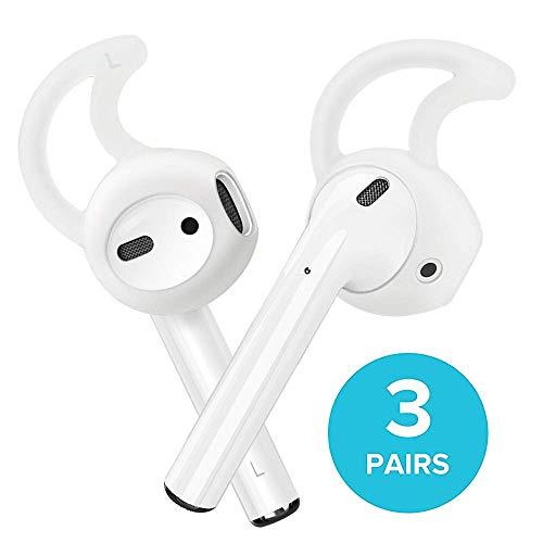 airpods Ohr Haken, Apple EarPods, Tipps, 3er Pack Silikon Cover für Apple Kopfhörer (kristallklar), Mini, Farblos Ipod Nano Port