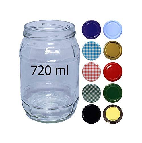 HAUSWIRT 720ml EINMACHGLÄSER • EINKOCHGLÄSER • STURZGLÄSER MIT SCHRAUBDECKEL to 82 mm • 8, 16, 32 STÜCK • GROßE Auswahl Verschiedene GRÖßEN UND Farben • GTM-de