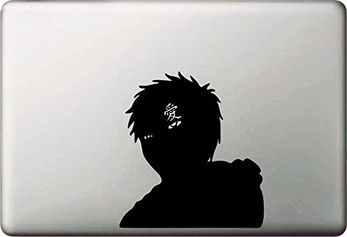 Vati Blätter Removable Kreative Naruto Gaara Aufkleber Aufkleber Skin Art Schwarz für Apple Macbook Pro Air Mac 13